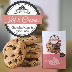 Kit à cookies au chocolat blanc et speculoos
